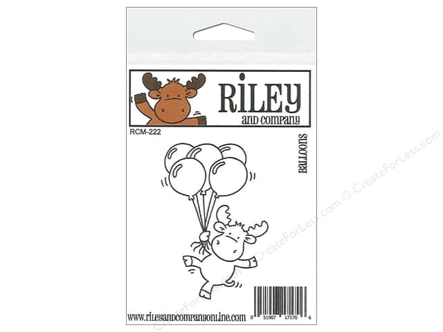 Riley & Company Cling Stamps Balloons