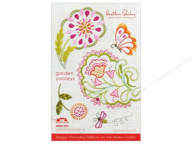 Heather Bailey Garden Paisley Embroidery Pattern