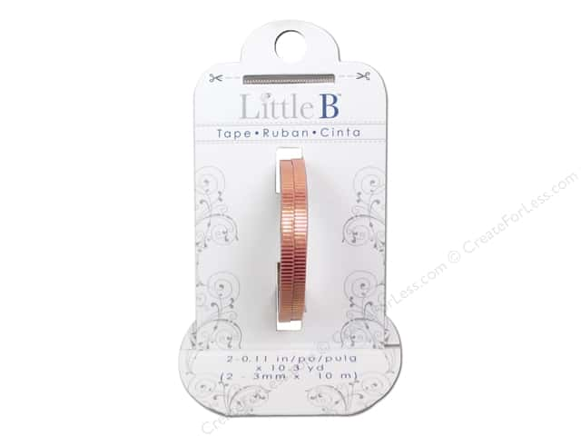 Little B Decorative Paper Tape 1/8 in. Gold Foil Grosgrain 2 pc.