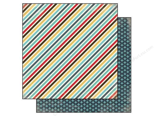 Carta Bella 12 x 12 in. Paper Boy Oh Boy Boy Stripes (25 sheets)