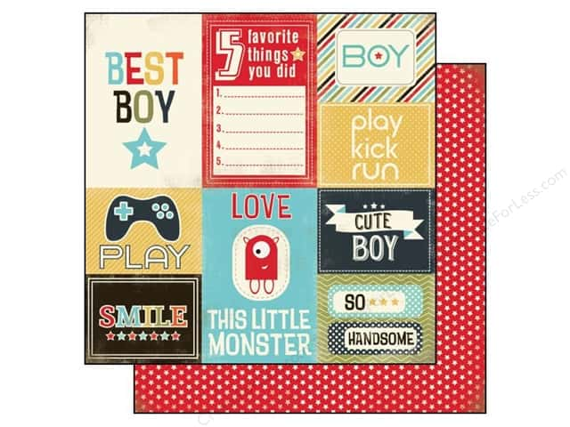 Carta Bella 12 x 12 in. Paper Boy Oh Boy Journaling Card (25 sheets)