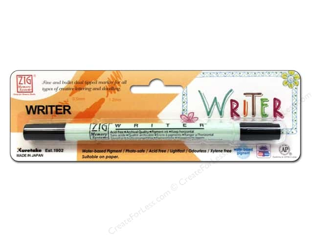 Zig Writer Dual Tip Pen Pure Black