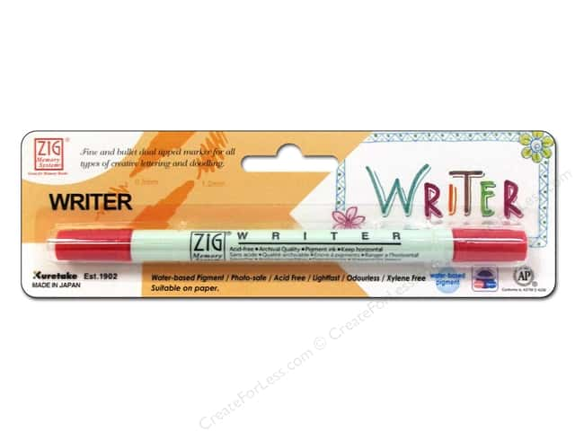 Zig Writer Dual Tip Pen Rose
