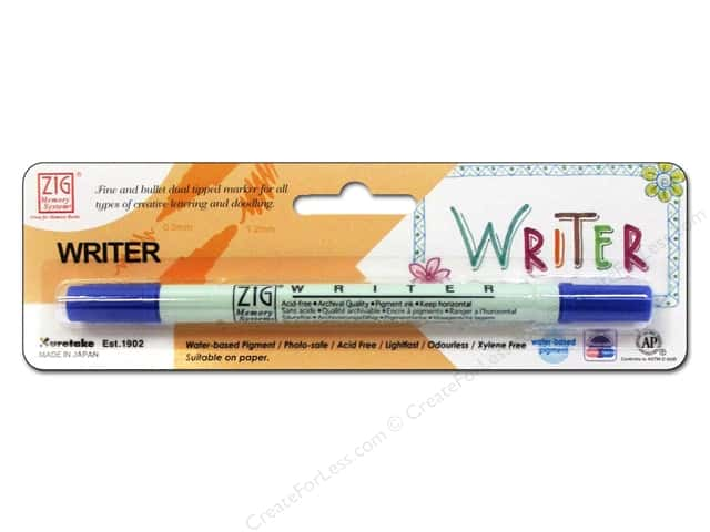 Zig Writer Dual Tip Pen Pure Blue