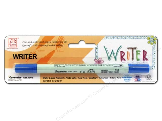Zig Writer Dual Tip Pen Blue Jay