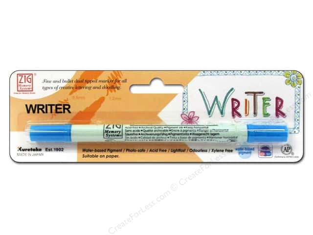 Zig Writer Dual Tip Pen Baby Blue