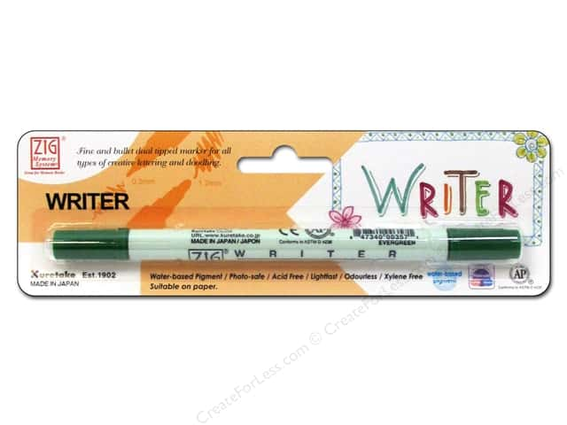 Zig Writer Dual Tip Pen Ever Green