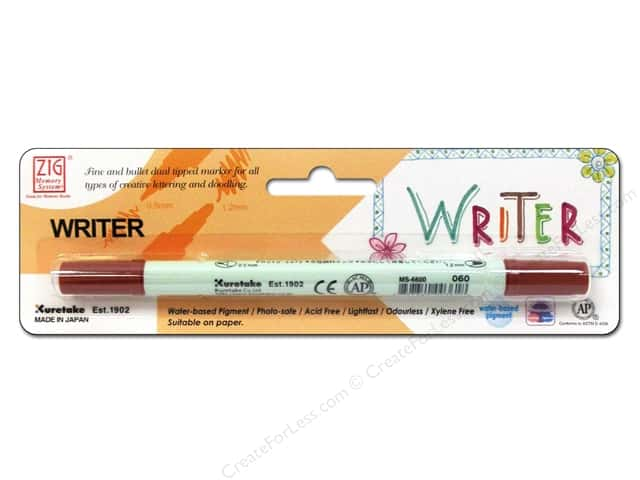 Zig Writer Dual Tip Pen Pure Brown
