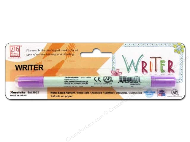 Zig Writer Dual Tip Pen Hyacinth