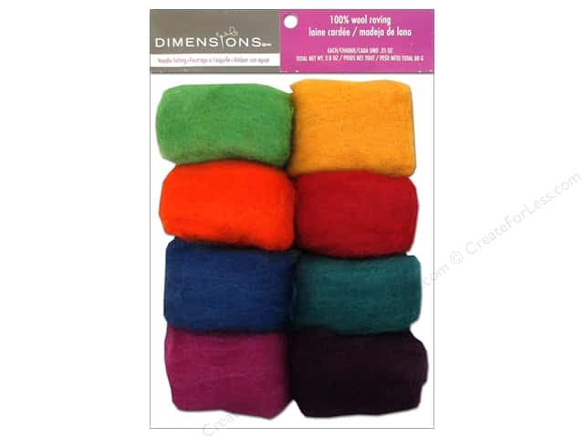 Dimensions 100% Wool Roving Value Pack Rainbow