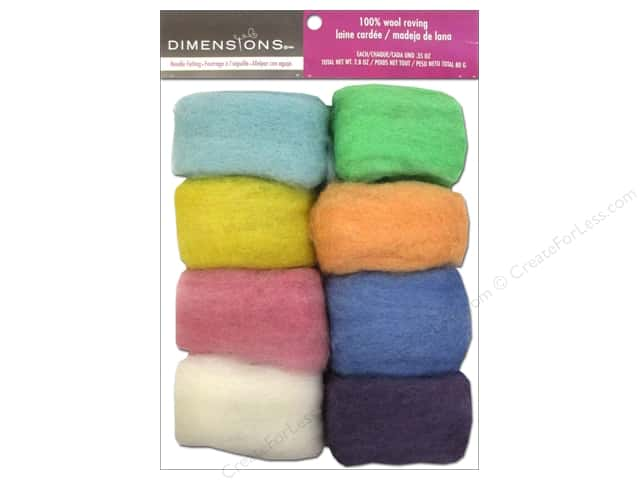 Dimensions 100% Wool Roving Value Pack Pastel