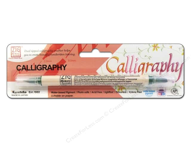 Zig Dual Tip Calligraphy Pen Evergreen