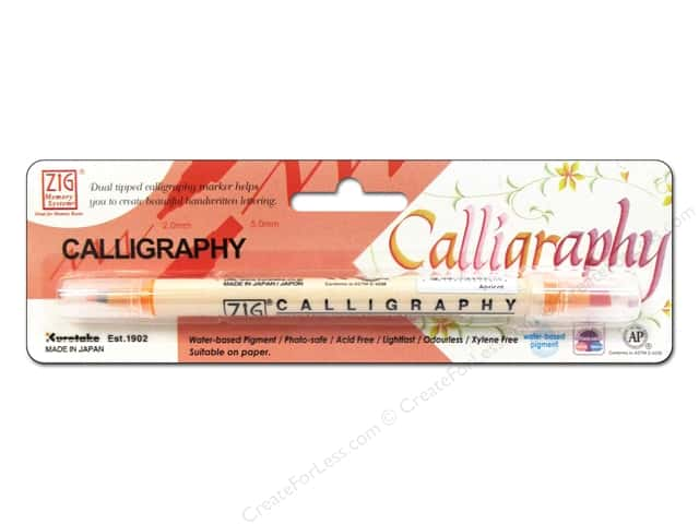 Zig Dual Tip Calligraphy Pen Apricot