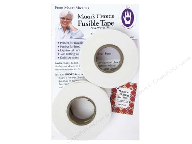 "Marti Michell Fusible Tape 1""x 30yd 2 Rolls"