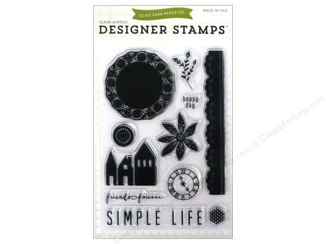 Echo Park Clear Stamp Set Simple Life