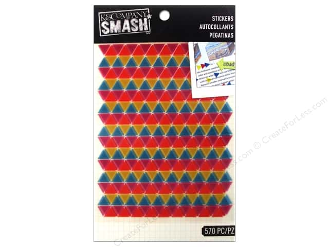 K&Company Smash Stickers Triangle Neon