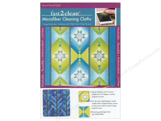 C&T Publishing Fast2Clean Microfiber Cleaning Cloths - French Braid Quilt