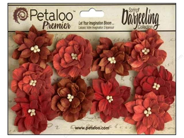 Petaloo Darjeeling Dahlias Teastain Red