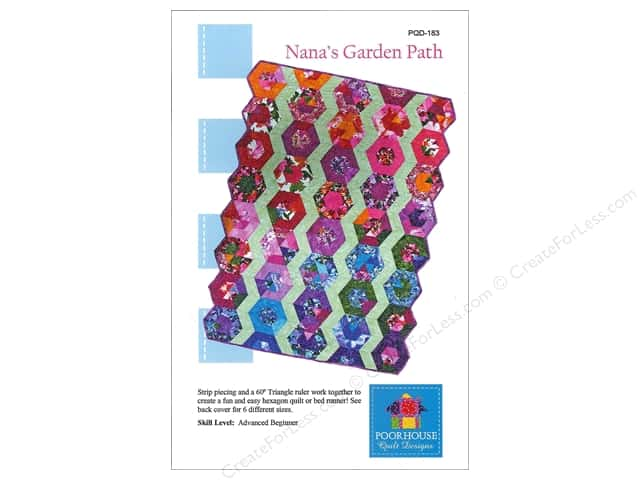 Poorhouse Quilt Designs Nana's Garden Path Pattern