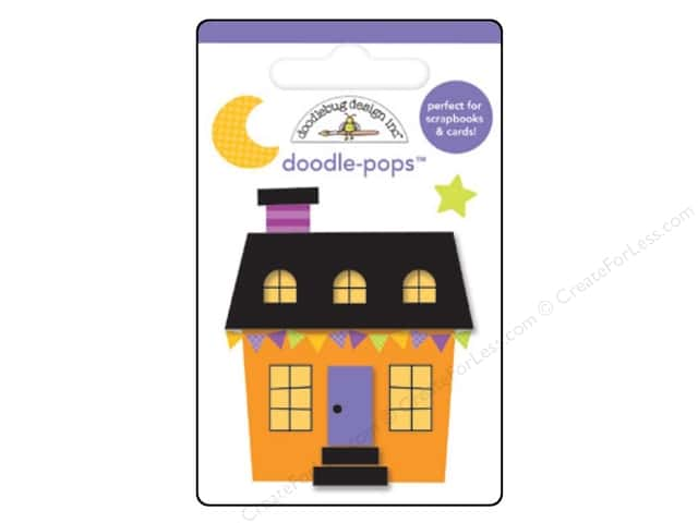 Doodlebug Collection Ghouls & Goodies Doodle Pops Halloween House