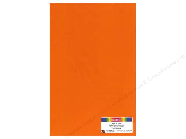 "National Nonwovens WoolFelt 12""x 18"" 35% 12x18 Sunburst (10 sheets)"