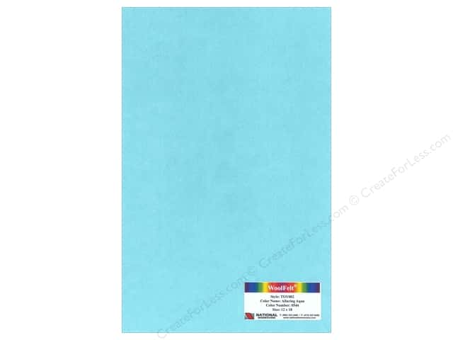 National Nonwovens 35% Wool Felt 12 x 18 in. Alluring Aqua