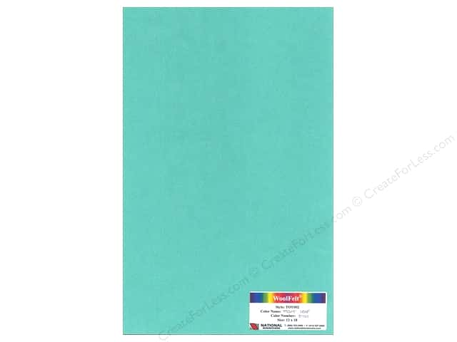 "National Nonwovens WoolFelt 12""x 18"" 35% 12x18 Mint Leaf (10 sheets)"