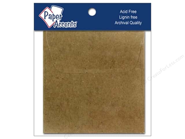 2 1/4 x 2 1/4 in. Envelopes by Paper Accents 15 pc. Brown Bag