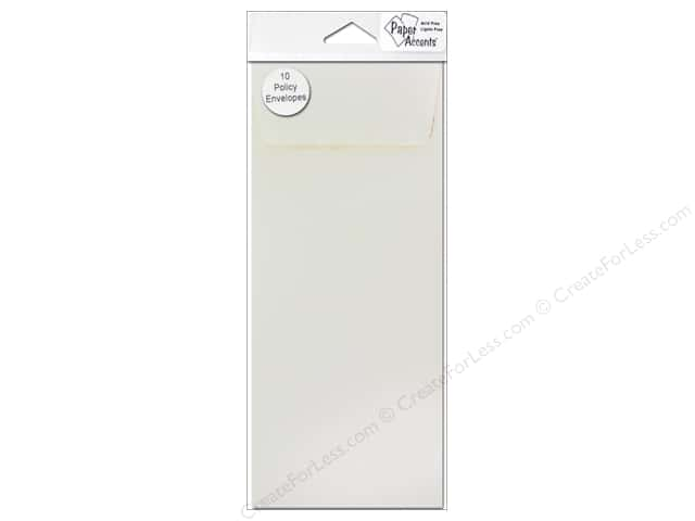9 1/2 x 4 1/8 in. Policy Envelopes by Paper Accents 10 pc. Cream