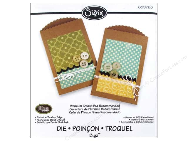 Sizzix Bigz Die Pocket with Scalloped Edge by Jillibean Soup