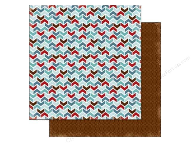 Carta Bella 12 x 12 in. Paper All Bundled Up Chevron (25 sheets)