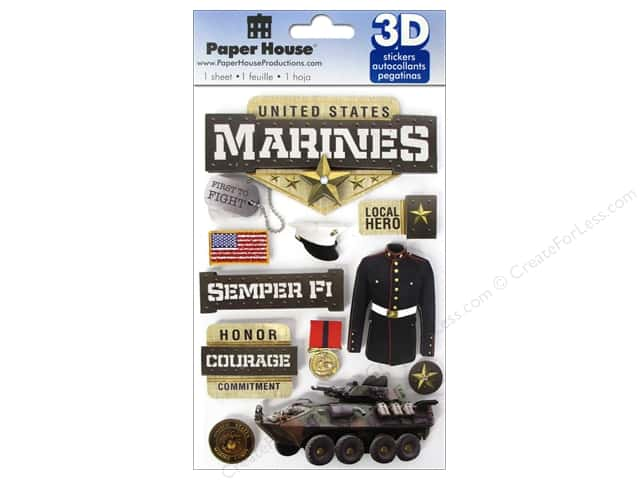 Paper House Sticker 3D Marines