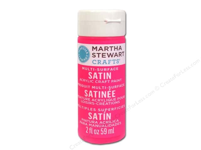 Martha Stewart Craft Paint by Plaid Satin Date Night Pink 2 oz.