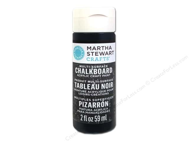 Martha Stewart Craft Paint by Plaid Chalkboard Black 2 oz.