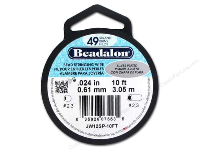 Beadalon Bead Wire 49 Strand .024 in. Silver Plated 10 ft.