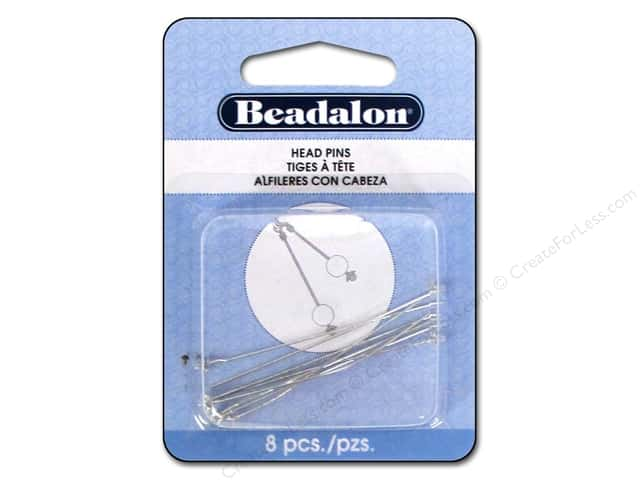 Beadalon Head Pins Ball & Star 2 in. Silver Plated 8 pc.