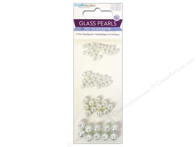 Multicraft Bead Glass Multipack Pearl White
