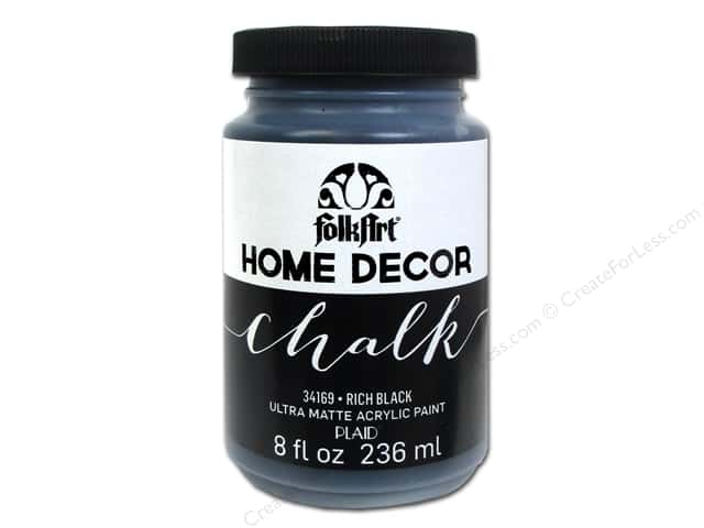 Plaid FolkArt Home Decor Chalk 8 Oz. Black -- CreateForLess