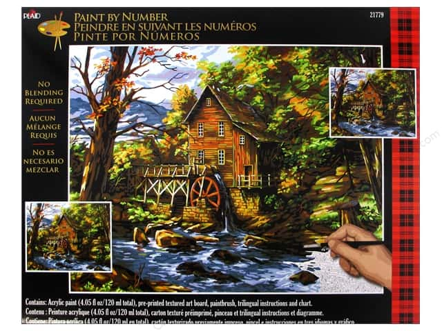 Plaid Paint By Number 16 x 20 in. Rocky Creek Mill