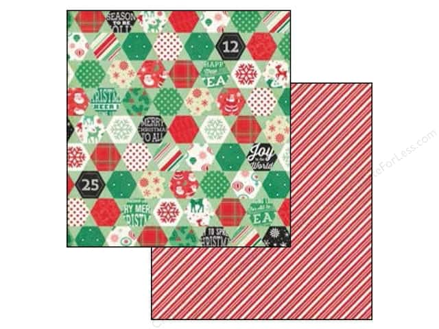 Echo Park 12 x 12 in. Paper Christmas Cheer Collection Cozy Quilt (25 sheets)