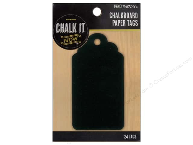 K&Company Chalk It Now Chalkboard Tags Traditional