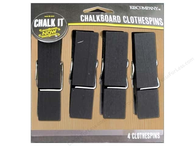 K&Company Chalk It Now Chalkboard Clothespins Large