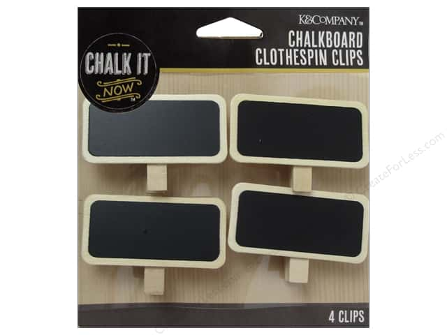 K&Company Chalk It Now Chalkboard Clothespins Clips
