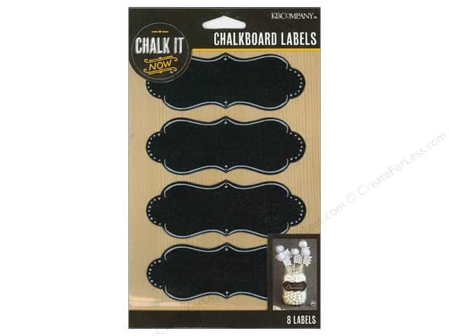 K&Company Chalk It Now Chalkboard Labels Deco Shape
