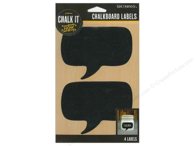 K&Company Chalk It Now Chalkboard Label Word Bubble