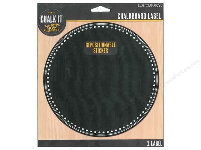 K&Company Chalk It Now Chalkboard Label Decorative Circle