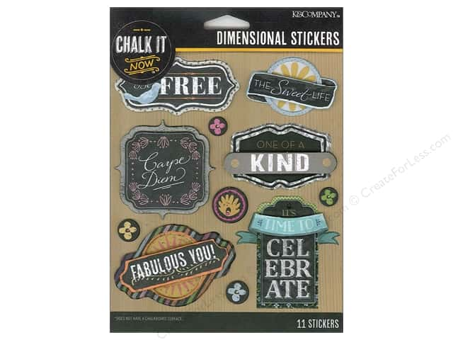 K&Company Chalk It Now Sticker Dimensional