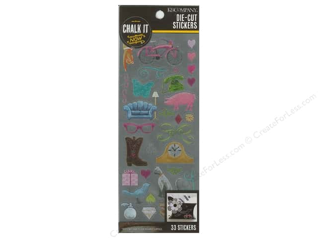 K&Company Chalk It Now Sticker Die Cut Nostalgic