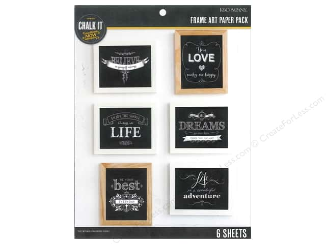 K&Company Chalk It Now Paper Pack Frame Art