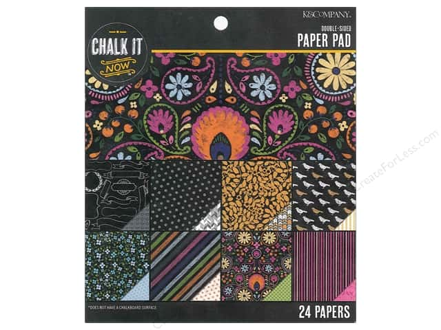 K&Company Chalk It Now Paper Pad Pattern